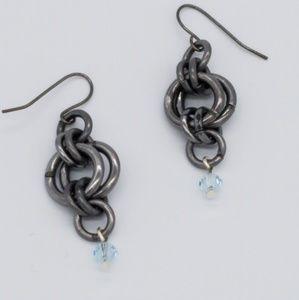 Jewelry - Hammered Steel Earrings